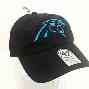 Women's Carolina Panthers NFL Black Logo Ball Cap